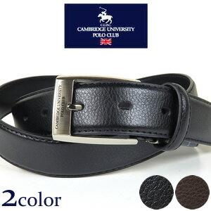 【最大44倍】Cambridge University Polo Club ロゴバックル ビジネス レザーベルト 牛革(裏合皮)/色:ブラック 黒、ブラウン 茶