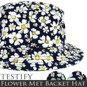 バケットハット 花柄Flower Met Backet Hat[フラワー/サファリハット]【02P06Aug16】 fs04gm:オーダースーツ注文紳士服アベ