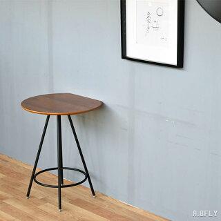 半円テーブルカフェテーブル2人用二人円卓半円形ラウンジテーブルダイニングテーブル省スペース食卓テーブルオーク材木製スチール脚ブラウンナチュラルシンプル北欧ミッドセンチュリーモダン西海岸店舗什器カフェおしゃれかわいい