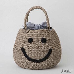 ※予約販売※【ajolie】アジョリースマイル刺繍カゴバッグ