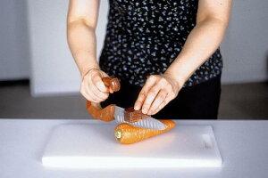 らく切り包丁(包丁立て付)【福祉調理具/ウカイ利器/キッチン用品/ナイフ】