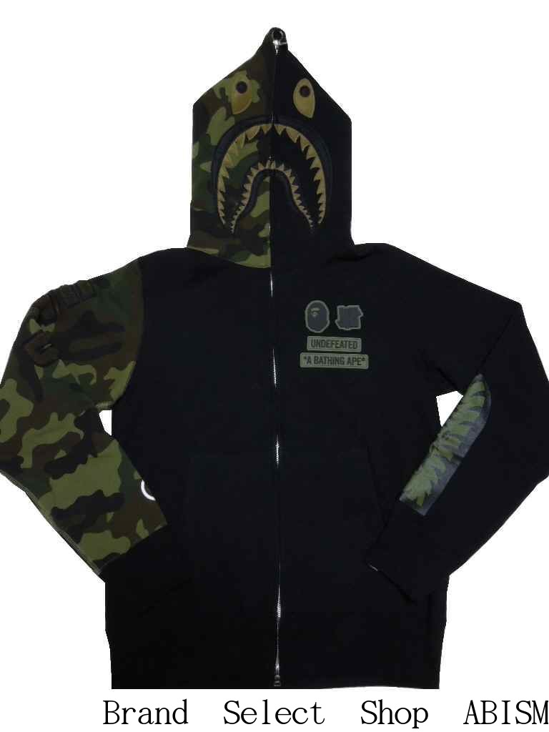 トップス, パーカー A BATHING APE()x UNDEFEATED()WOODLAND CAMO SHARK HOODIE BAPE()
