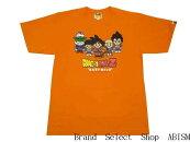 【代引き不可】ABATHINGAPE(エイプ)xDRAGONBALLZ(ドラゴンボール)BAPEXDRAGONBALLZTEE#6【Tシャツ】【オレンジ】【日本製】【新品】BAPE(ベイプ)
