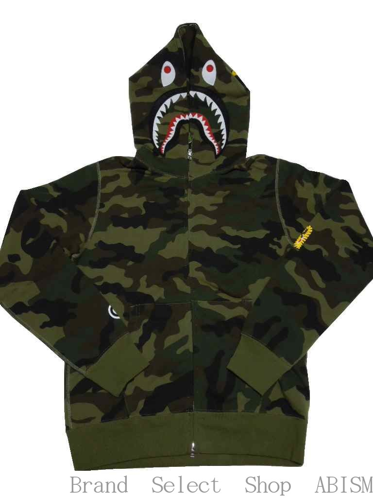 トップス, パーカー A BATHING APE()WOODLAND CAMO SHARK FULL ZIP HOODIE CAMOBAPE()