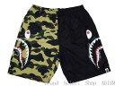 【代引き不可】A BATHING APE(エイプ)1ST CAMO HALF SHARK BEACH PANTSシャーク ビーチパンツ 【ブラックxイエローCAMO】【新品】BAPE/ベイプ