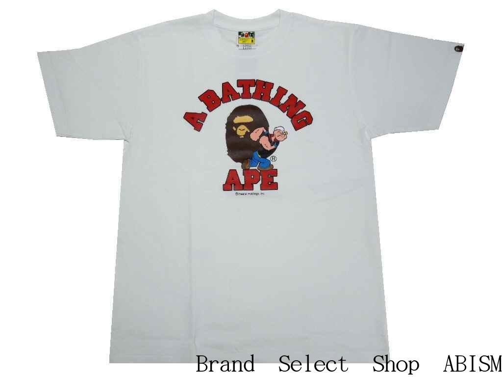 トップス, Tシャツ・カットソー A BATHING APE()xPOPEYE()POPEYE X BAPE COLLEGE TEE 2TMENSBAPE()