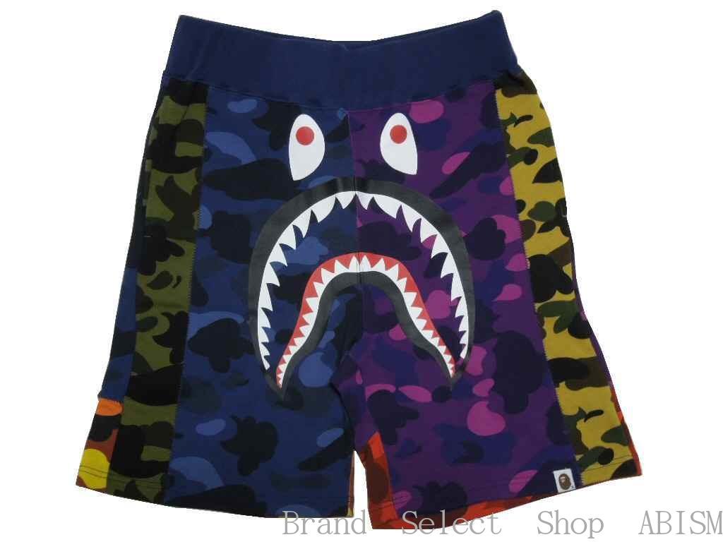 メンズファッション, ズボン・パンツ A BATHING APE()MIX CAMO SHARK SWEAT SHORTS CAMOMENSBAPE