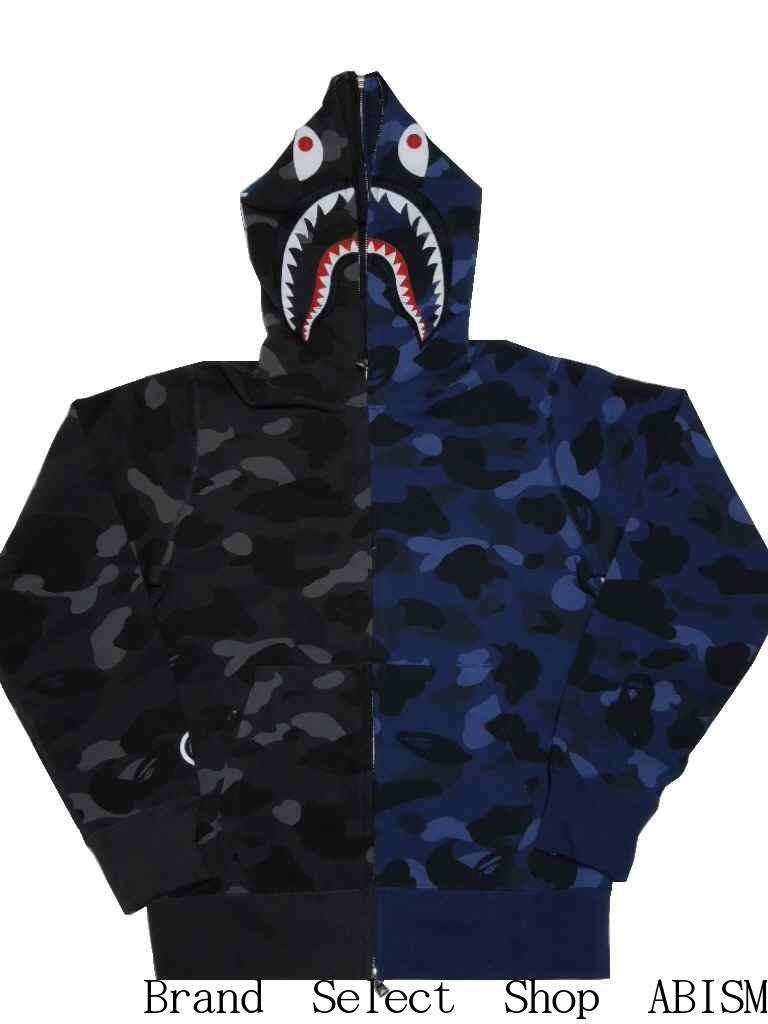 トップス, パーカー A BATHING APE()COLOR CAMO SEPARATE SHARK FULL ZIP HOODIE xMENSBAPE()