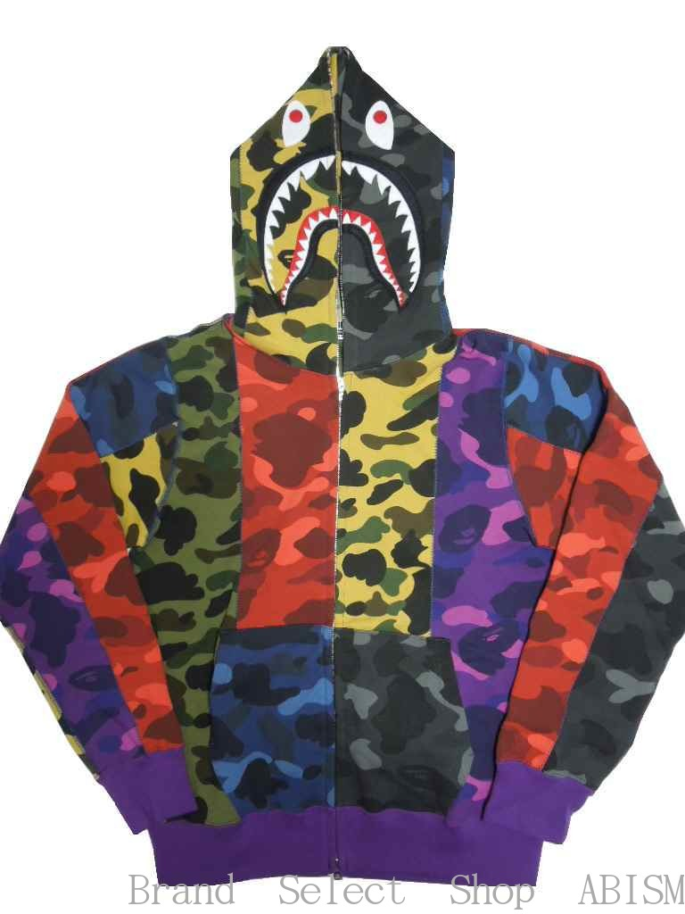 トップス, パーカー A BATHING APE()MIX CAMO CRAZY SHARK FULL ZIP HOODIE CAMOBAPE()