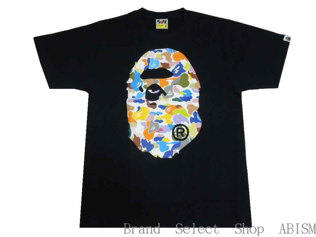 トップス, Tシャツ・カットソー A BATHING APE()MULTI CAMO BIG APE HEAD TEETMENSBAPE