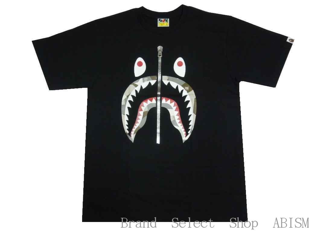 トップス, Tシャツ・カットソー A BATHING APE()BAPE SPLINTER CAMO SHARK TEETxMENSBAPE