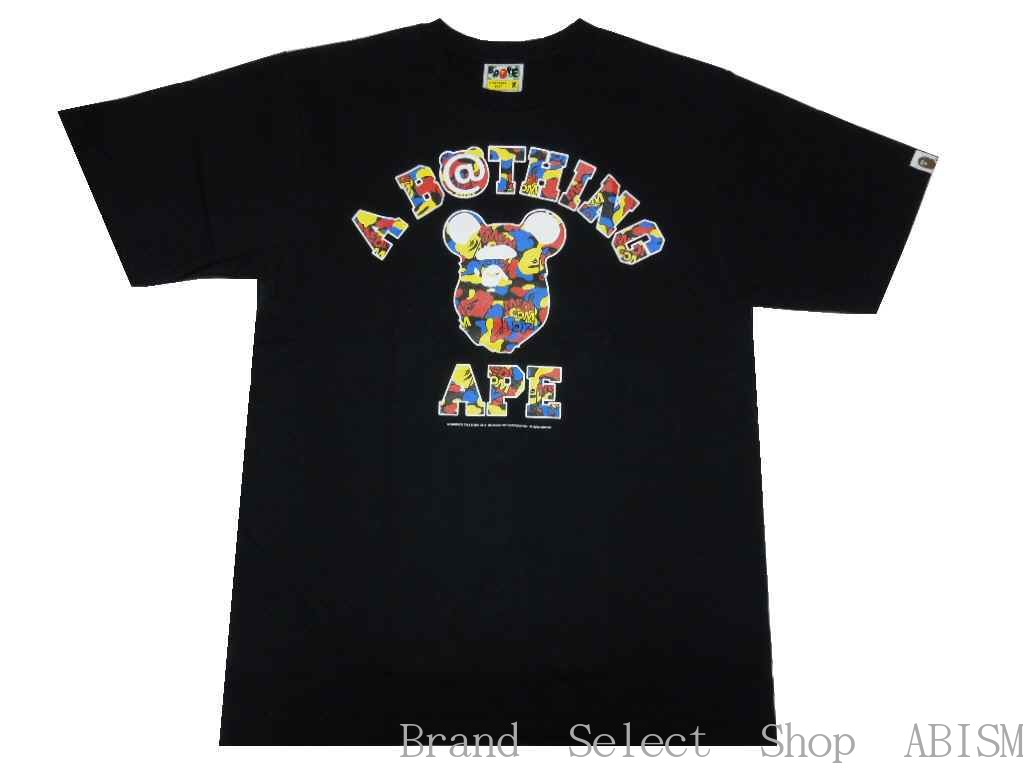 トップス, Tシャツ・カットソー A BATHING APE()MEDICOM TOY()MEDICOM TOY CAMO COLLEGE TEETMENSBAPE