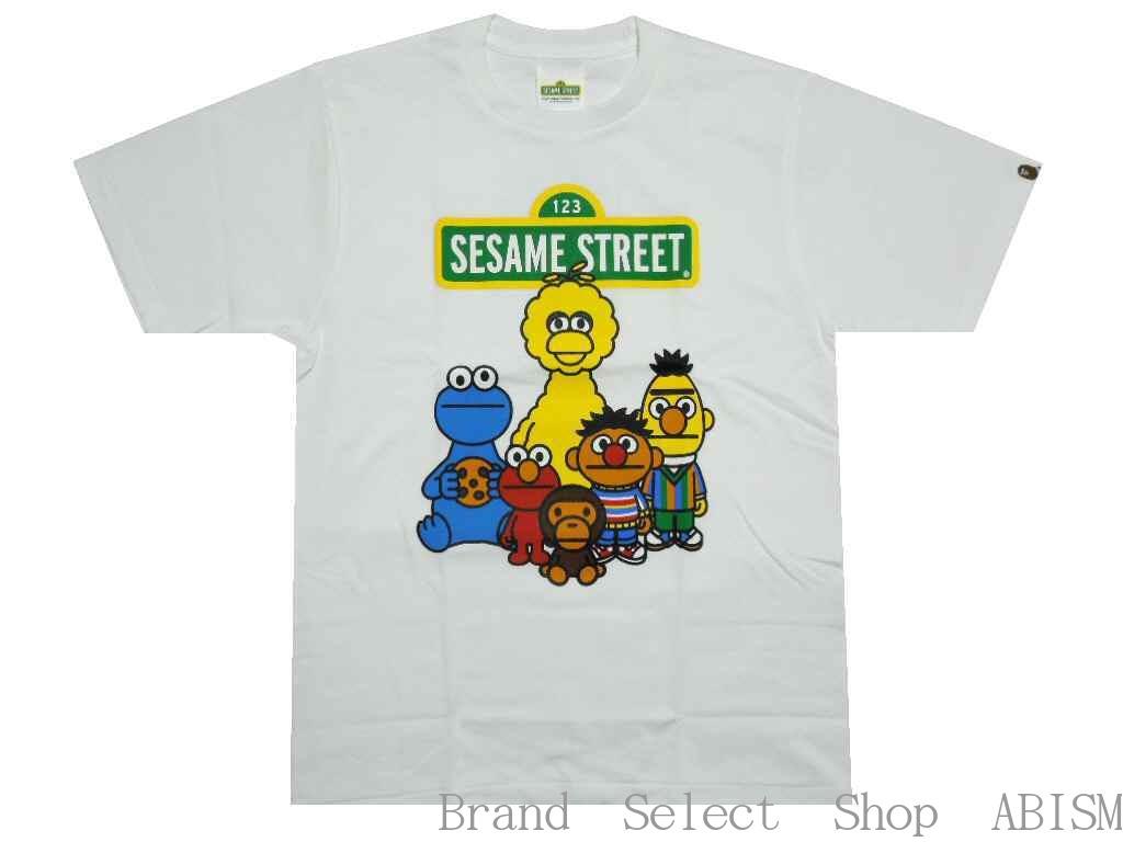 トップス, Tシャツ・カットソー A BATHING APE()xSESAME STREETBAPE X SESAME STREET CHARACTERS TEE 1TMENSBAPE()