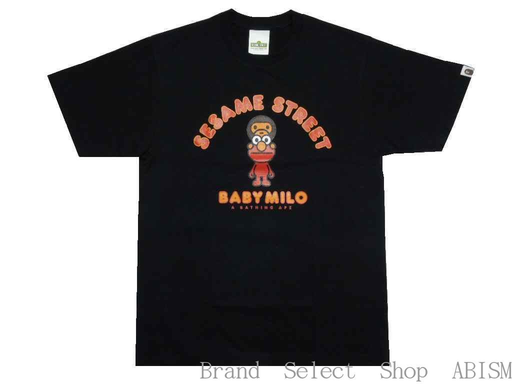 トップス, Tシャツ・カットソー A BATHING APE()xSESAME STREETBAPE X SESAME STREET MILO ELMO TEETMENSBAPE()