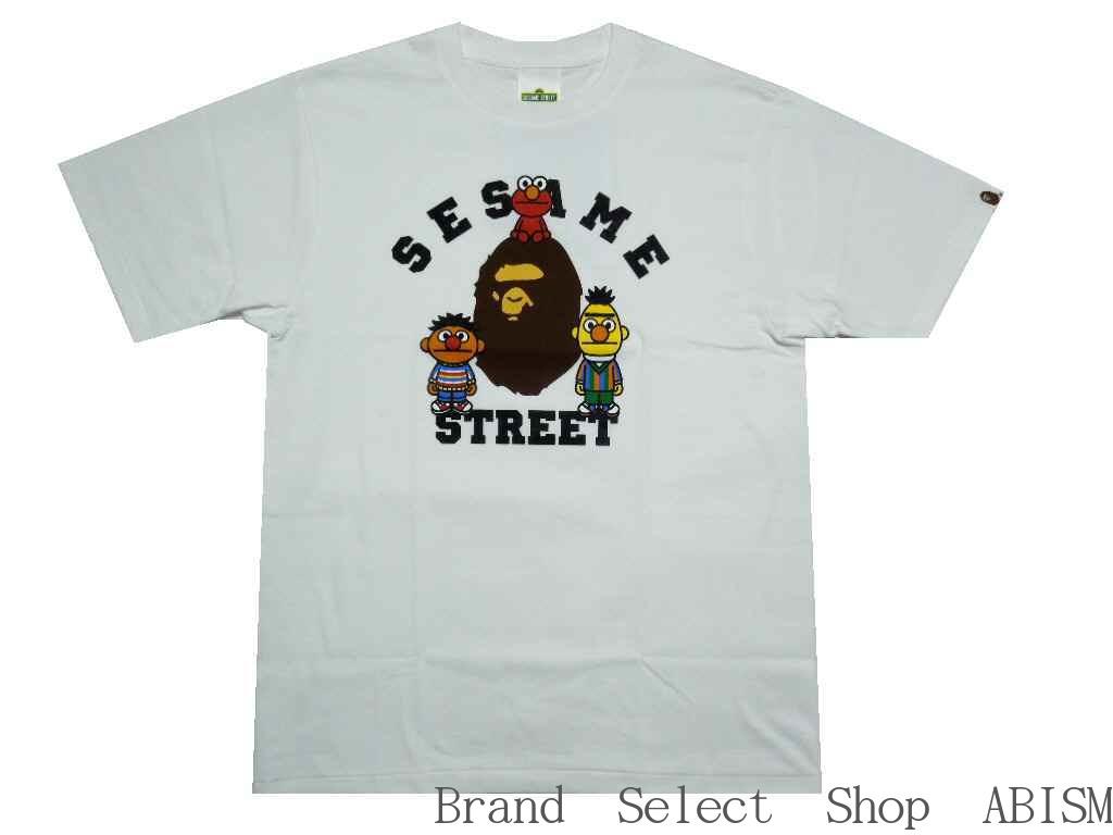 トップス, Tシャツ・カットソー A BATHING APE()xSESAME STREETBAPE X SESAME STREET COLLEGE TEETMENSBAPE()