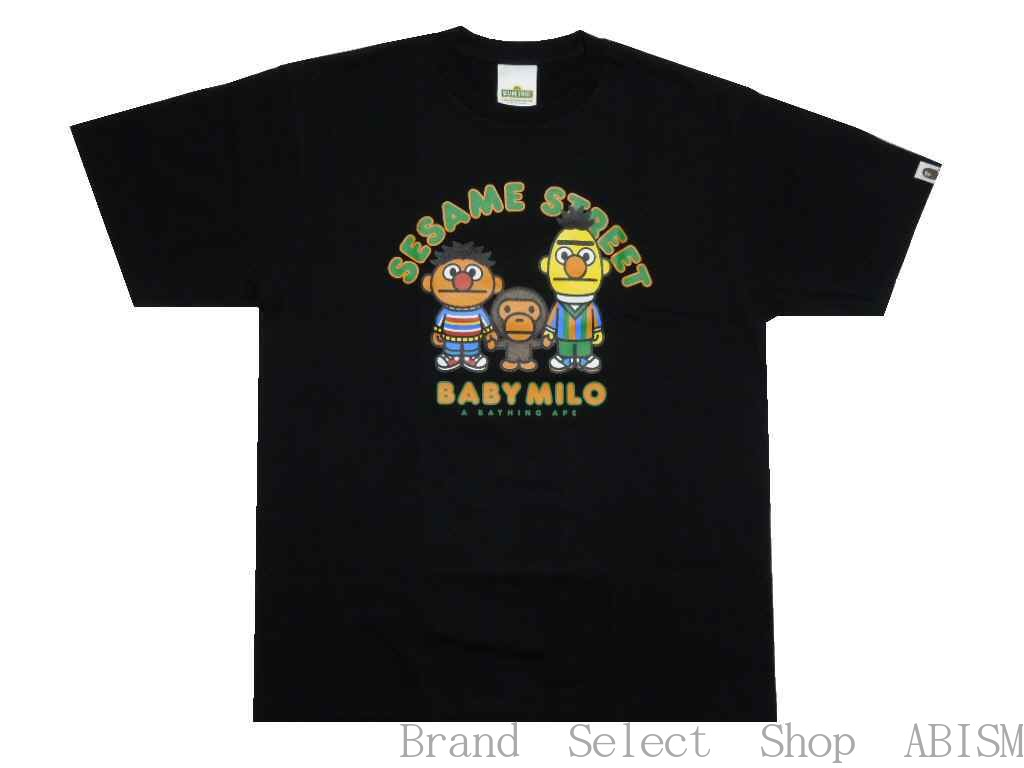 トップス, Tシャツ・カットソー A BATHING APE()xSESAME STREETBAPE X SESAME STREET MILO BERT ERNIE TEETMENSBAPE()