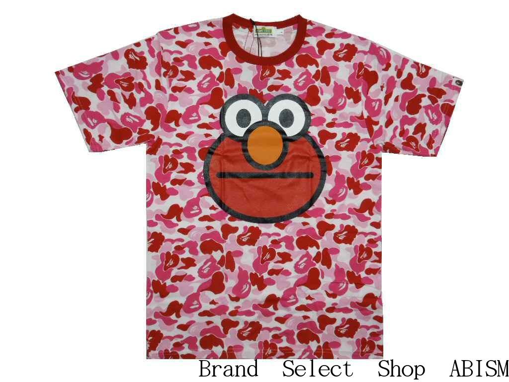 トップス, Tシャツ・カットソー A BATHING APE()xSESAME STREETBAPE X SESAME STREET ABC CAMO TEETCAMOMENSBAPE()