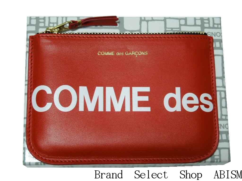 財布・ケース, レディースコインケース COMME des GARCONSHuge Logo Wallet) LADYSMENSRED