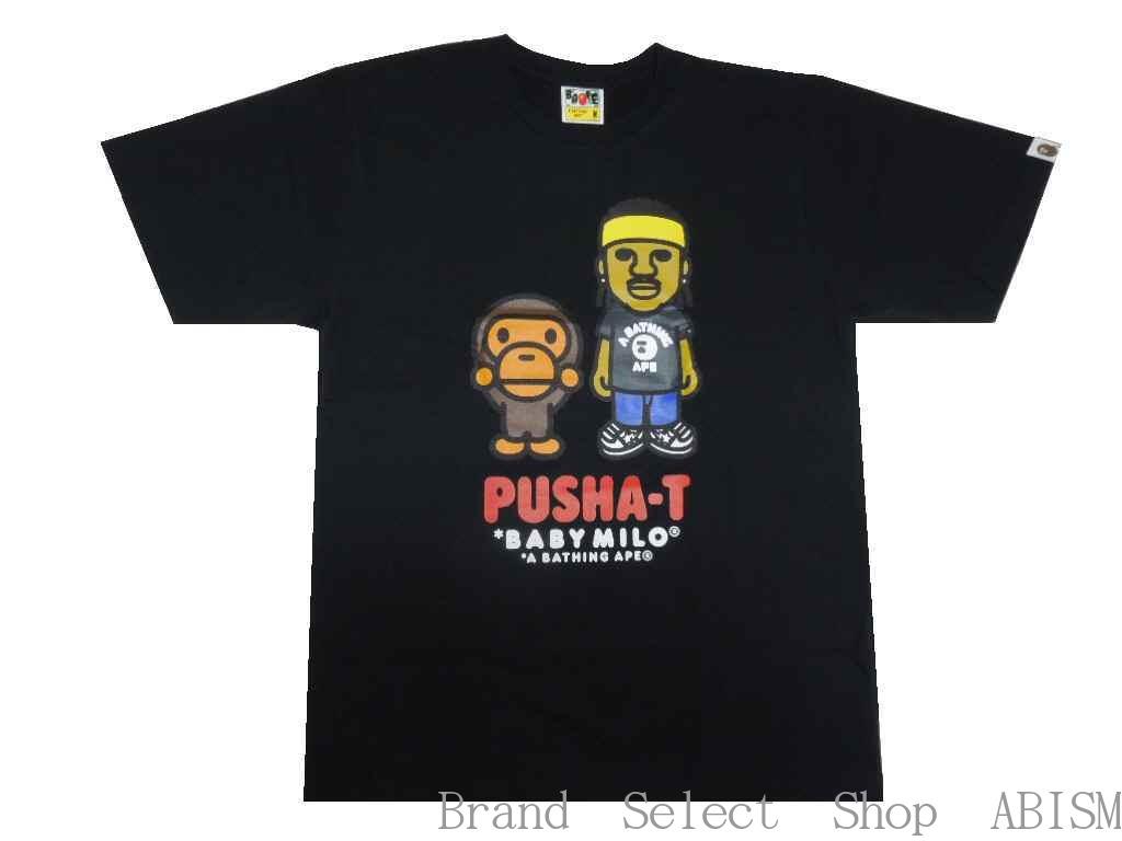 トップス, Tシャツ・カットソー A BATHING APE()x PUSHA-TTPUSHA-T X BAPE BABY MILO TEETMENSBAPE()