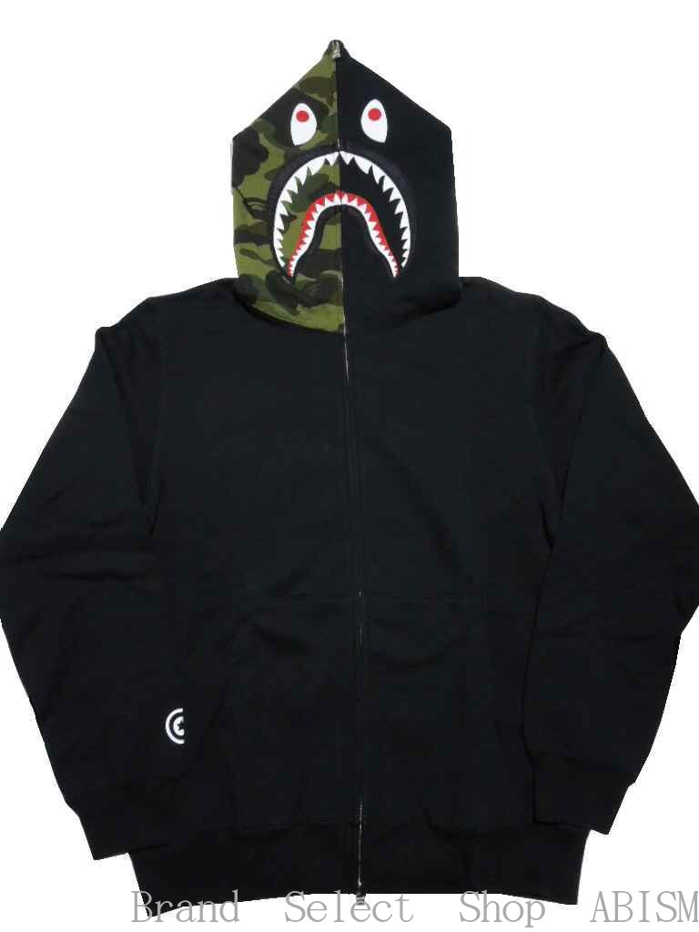 トップス, パーカー A BATHING APEx PUSHA-TTPUSHA-T X BAPE SHARK FULL ZIP HOODIE MENSBAPE