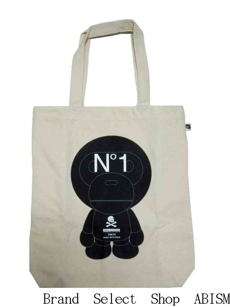 男女兼用バッグ, トートバッグ A BATHING APE()BABY MILO BY NEIGHBORHOOD TOTEIVORYTOTE BAGBAPE()