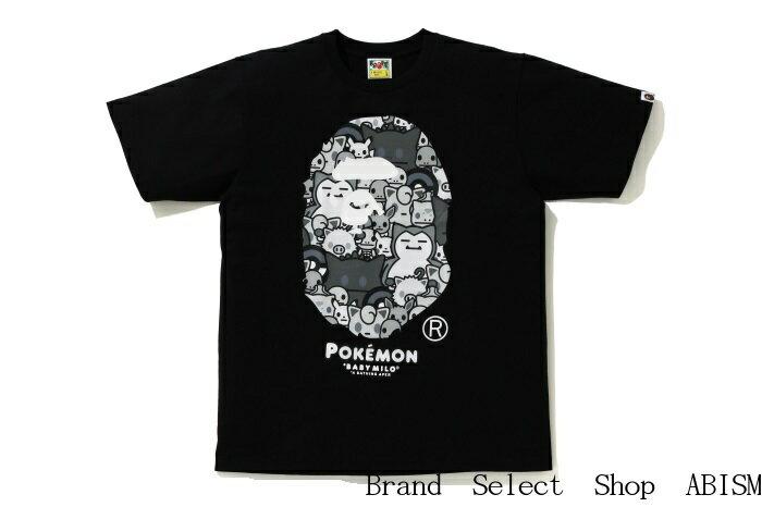 トップス, Tシャツ・カットソー A BATHING APEX POKEMONMONOTONE APE HEAD POKEMON TEETMENSBAPE