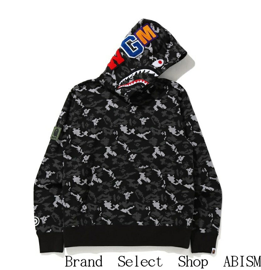 トップス, パーカー A BATHING APE()DIGITAL CAMO SHARK WIDE PULLOVER HOODIE CAMOMENSBAPE()