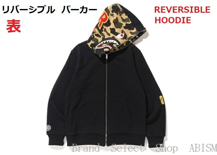 トップス, パーカー A BATHING APE()REVERSIBLE SHARK FULL ZIP HOODIE CAMOMENSBAPE()