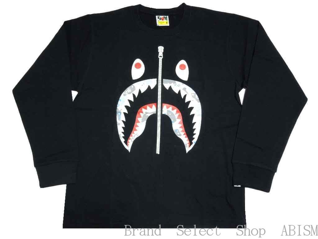 トップス, Tシャツ・カットソー A BATHING APE()SPACE CAMO SHARK LS TEETMensBAPE