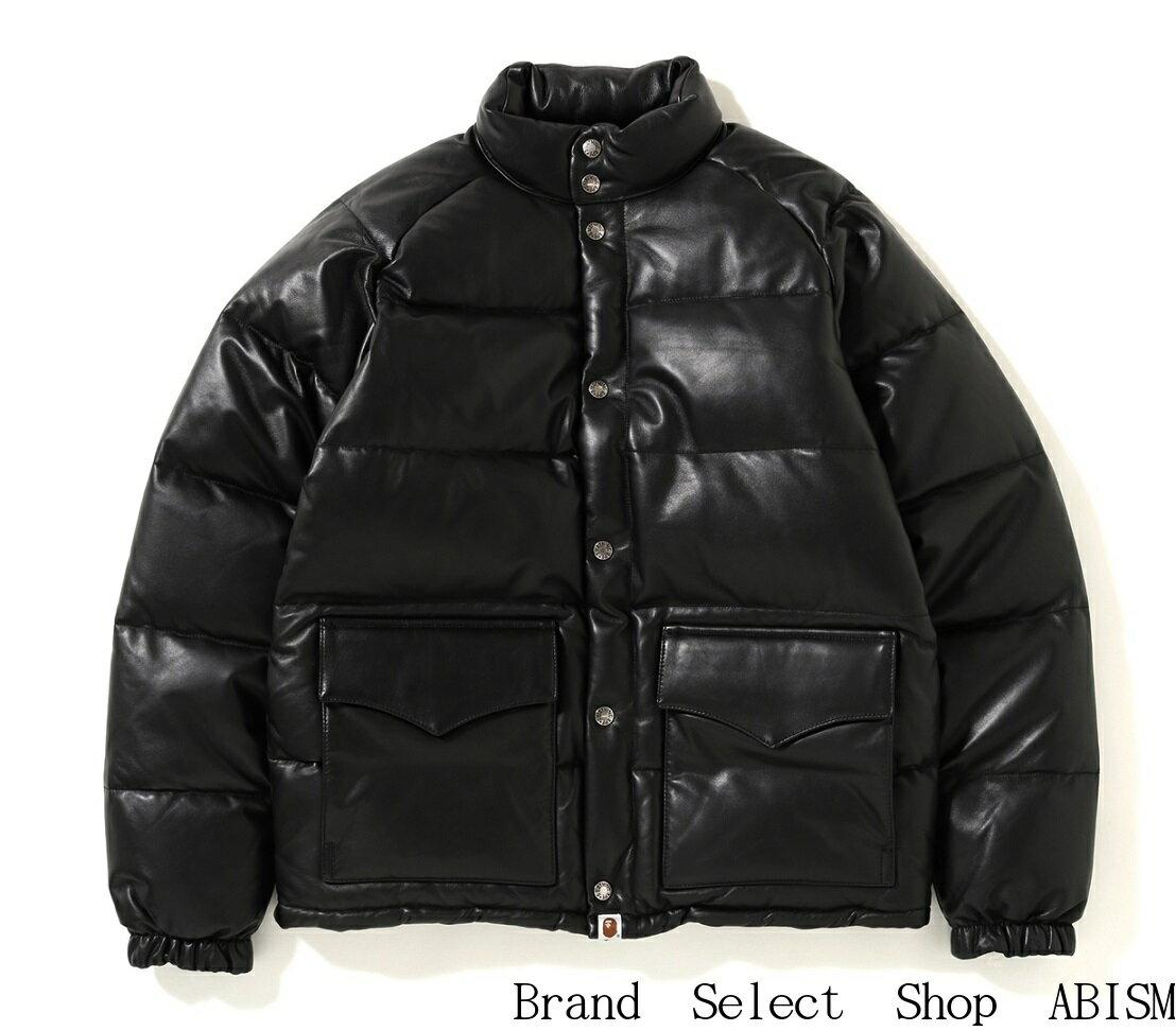 メンズファッション, コート・ジャケット A BATHING APE()LEATHER CLASSIC DOWN JACKETMensBAPE()