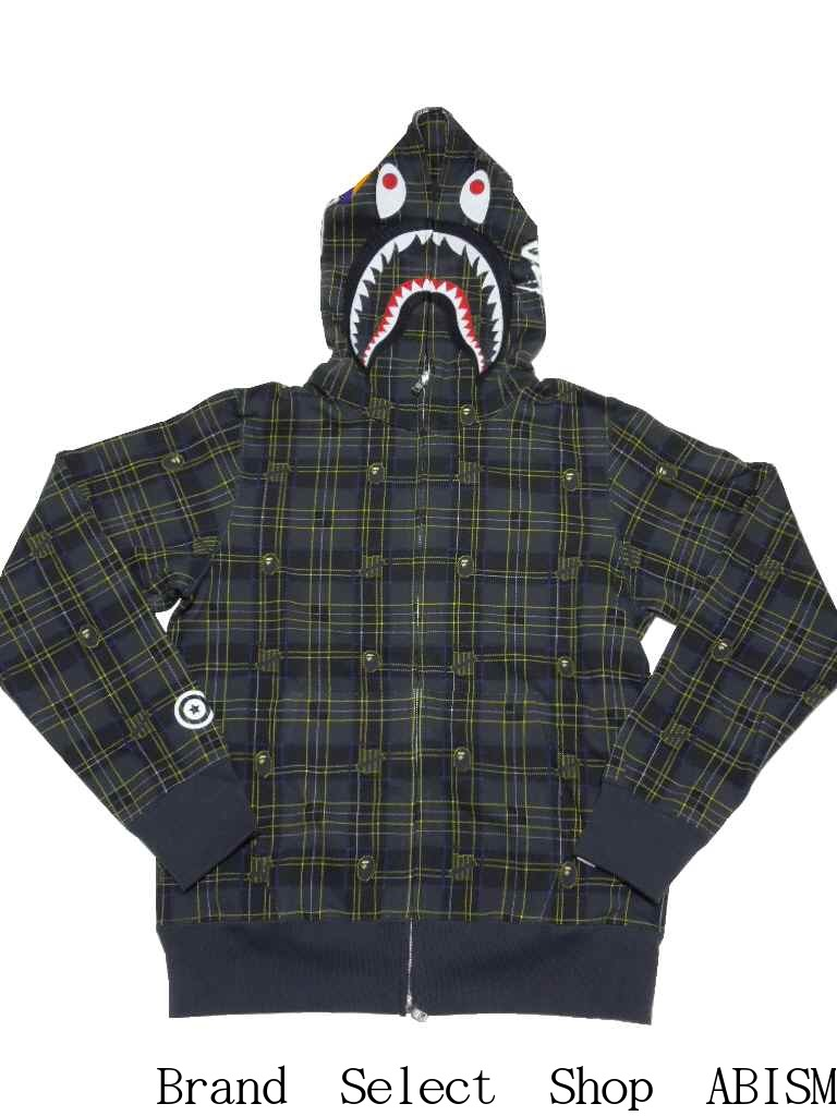 トップス, パーカー A BATHING APE()x UNDEFEATED()CHECK SHARK HOODIE BAPE()