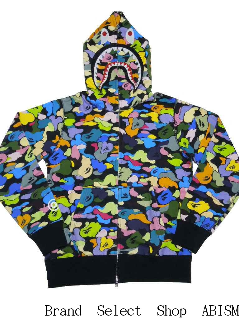 トップス, パーカー A BATHING APE()MULTI CAMO SHARK FULL ZIP HOODIE CAMO2017AWBAPE()