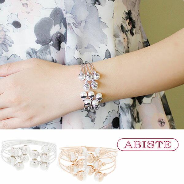 10倍 ABISTE(アビステ)5連ワイヤーパールバングル4171014レディース女性人気雑誌大人おしゃれ腕時計ブランドギフトウ