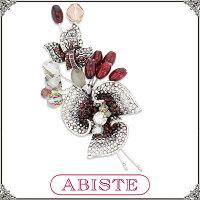 【送料無料】 ABISTE(アビステ) クリスタルフラワーブローチ/レッド 5401010 レディース 女性 人気 上品 大人 かわいい おしゃれ アクセサリー ブランド 誕生日 ギフト プレゼント ラッピング無料