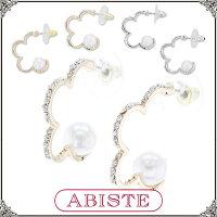 ABISTE(アビステ)★楽天限定★フラワーフープパールピアス/シルバー、ゴールド3150167A