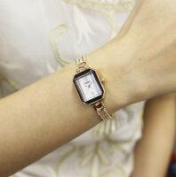 ABISTE(アビステ)スクエアフェイス4連チェーンベルト時計/ピンクゴールド、ゴールド、ブラウン、Sブラック9400012