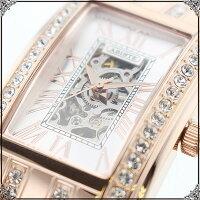 ★送料無料★ABISTE(アビステ)スクエアフェイス機械式ベルト時計/ホワイト、ピンク、ブラック9150029