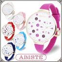 ABISTE(アビステ) デザインフェイスシリコンラバー腕時計/ホワイト、ピンク、レッド、パープル、Lブルー、Dブルー 9150071 レディース 女性 人気 大人 かわいいおしゃれ ポップ アナログ 3針 ブランド 誕生日 ギフト プレゼント ウォッチ