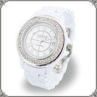 ★送料無料★キラキラベルト時計/ホワイト