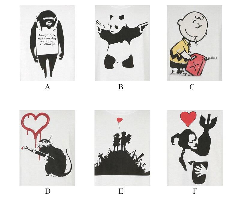 バンクシー: 【楽天市場】バンクシー Banksy プリントTシャツ メンズ クルー