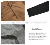 ウールパンツメンズフランネルタックワイドパンツ暖パン日本製国産kafikaカフィカKFK0706630