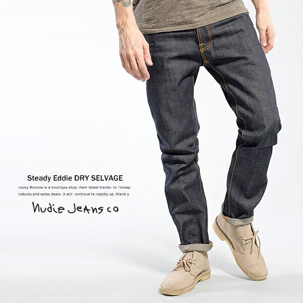 ヌーディージーンズ Nudie Jeans STEADY EDDIE DRY SELVAGE セルヴィッチ セルヴィッジ 赤耳 デニムパンツ 1114984672:abito