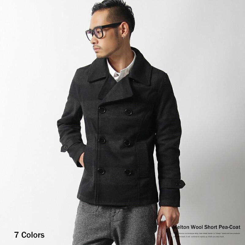 abito2011 | Rakuten Global Market: P coat mens pea coat Melton