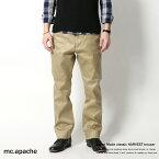 チノパン メンズ テーパードパンツ スラックス トラウザー 日本製 国産 mc.apache 7728 5571【Sサイズ】