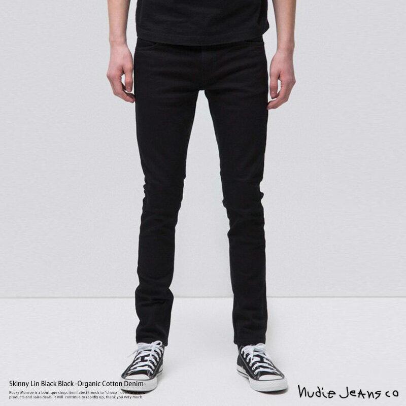 メンズファッション, ズボン・パンツ Nudie Jeans 111539 Skinny Lin Black Black 992 black 11 7991