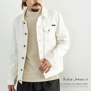 Nudie Jeans ヌーディージーンズ Tommy Dry Bone Ecru トミー デニムジャケット メンズ ジージャン Gジャン ライトアウター 綿 オーガニックコットン 長袖 リジッド ホワイト 生成り 白 160603 8909