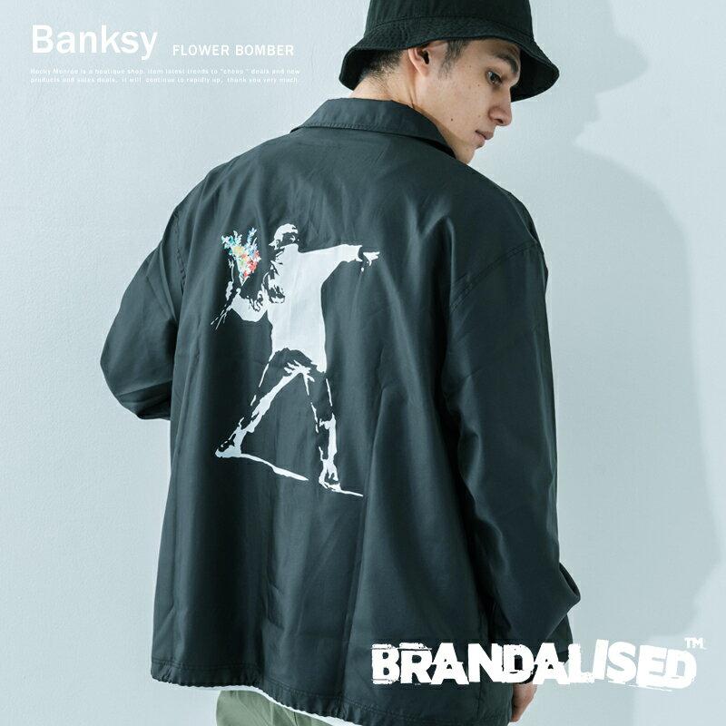 メンズファッション, コート・ジャケット  Banksy FLOWER BOMBER BRANDALISED 911000 9837
