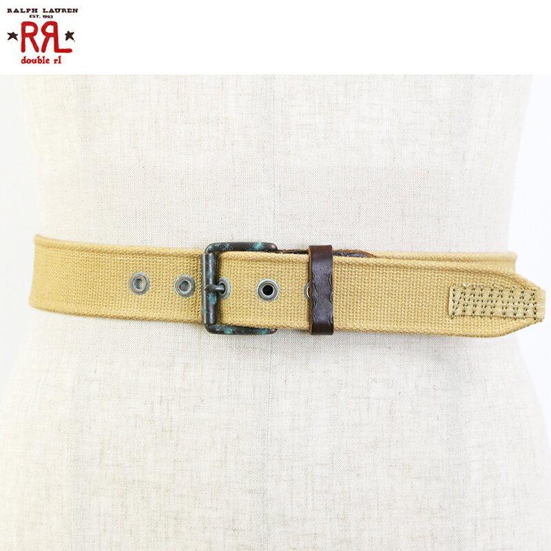 ベルト・サスペンダー, メンズベルト RRL (double RL) Canvas Leather Belt