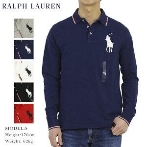 ポロ ラルフローレン コットン 鹿の子 ビッグポニー 長袖ポロシャツ ワンポイント POLO Ralph Lauren Men's Cotton Mesh l/s Polo Shirt US (UPS)
