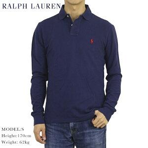 ポロ ラルフローレン コットン 鹿の子 カスタムフィット 長袖ポロシャツ ワンポイント POLO Ralph Lauren Men's Cotton Mesh l/s Polo Shirt US